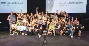 pilot gewinnt beim Football Agency Cup 2018 als beste Fußballmannschaft und in der Kategorie bester Gesamtauftritt