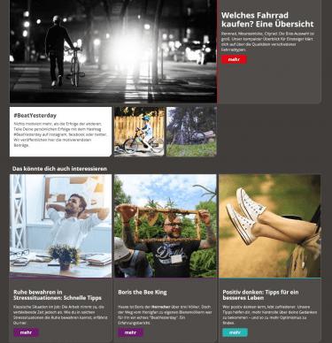 Der von pilot entwickelte Content Hub www.BeatYesterday.org (Screenshot)