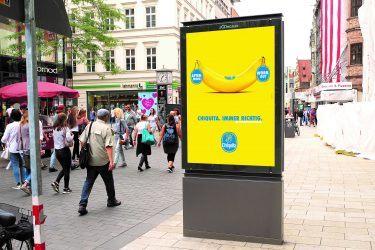"""pilot betreut den Media-Etat der deutschlandweiten Kampagne """"Chiquita. Immer richtig."""" von Chiquita (Credit: Chiquita)"""