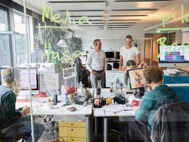 Impressionen vom W&V-Agenturrundgang mit Kristian Meinken bei pilot