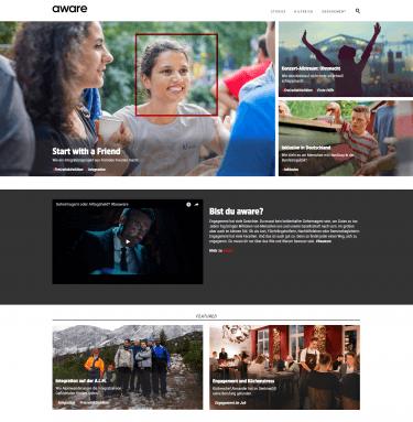 "Screenshot vom 'aware""-Content-Hub der Malteser"