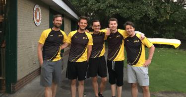 Einige Mitglieder des Ruderteams vom pilot Betriebssport