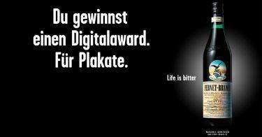"""Deutscher Digital Award 2018: pilot holt zweimal Bronze mit der """"Life is bitter""""-Kampagne für Fernet-Branca"""