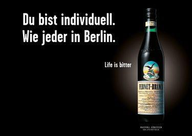 Life is bitter-Kampagne: Berliner Motiv für Fernet-Branca