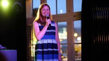 pilot Berlin Sommerfest: Natascha Heydorn begrüßt die rund 150 geladenen Gäste