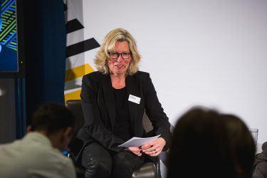 pilot-Geschäftsführerin Martina Vollbehr interviewte Max Wittrock, Gründer und Geschäftsführer von mymuesli, bei pilot@OMR 2018 zum Einsatz von Multichannel-Strategien