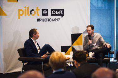 pilot Geschäftsführer Michael Frank und Philipp Westermeyer bei pilot@OMR