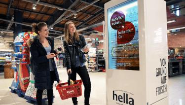 hella-Kühlschrank am POS