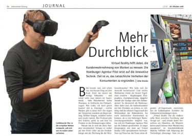 """Die """"Lebensmittel Zeitung"""" hat pilot Experten zum Thema Virtual Reality interviewt."""