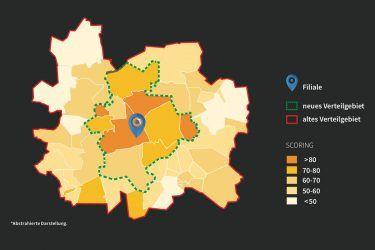 Infografik 1: Gravitationsanalyse (PILOTSPOTLIGHT Geomarketing)